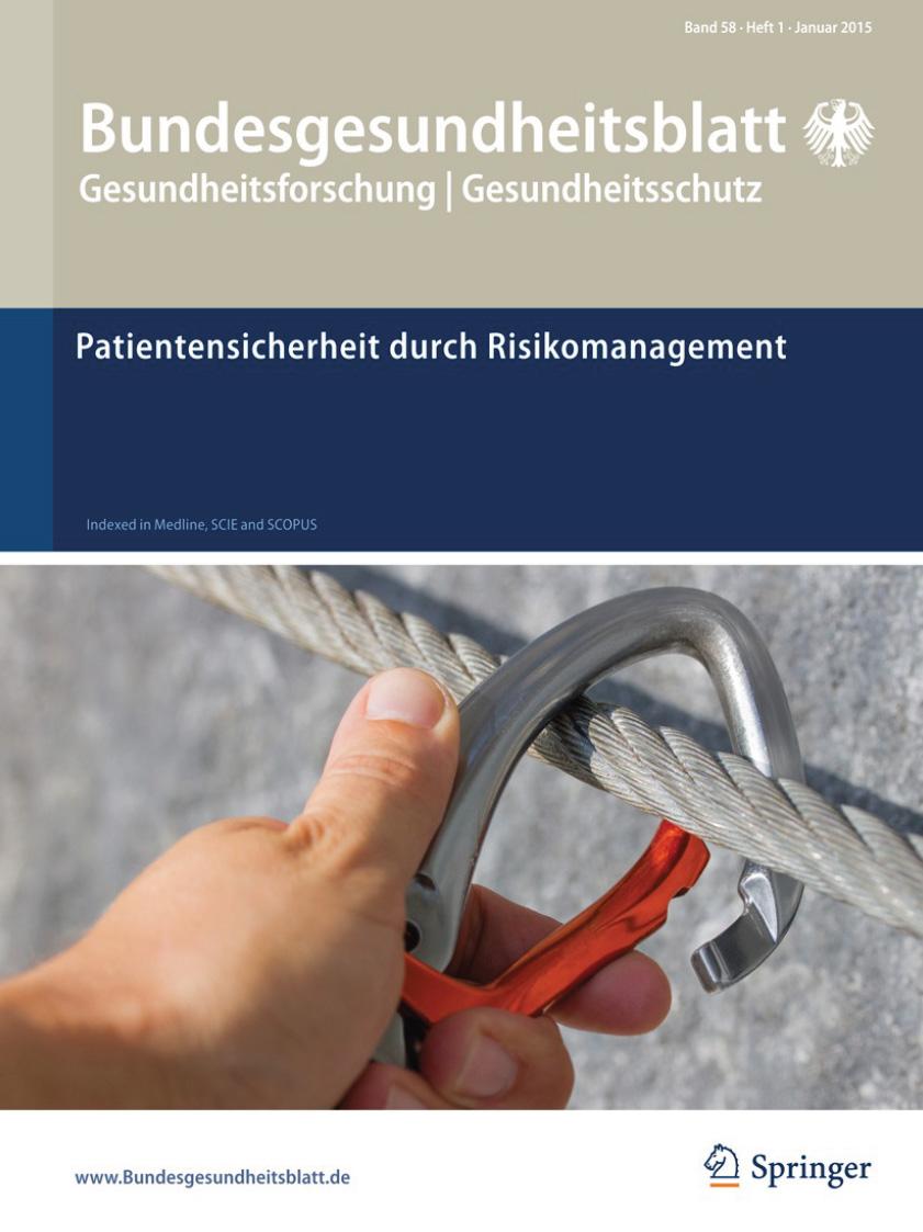 Artikel im Bundesgesundheitsblatt zur Patientensicherheit in der Ausbildung der Gesundheitsberufe Euteneier Siebert Hoffmann